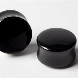 Black Onyx Double Round Plugs