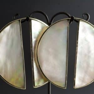 Mother of Pearl Keyhole Hangers